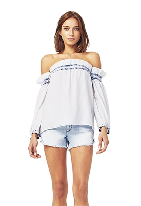 DL1961 Little W 12th Off The Shoulder Top in Irregular Bleach