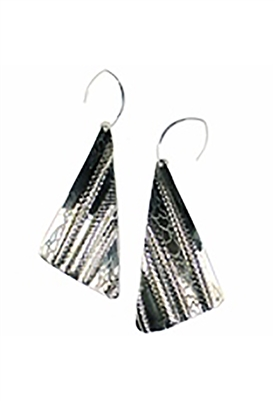 Sibilla G Oxidized German Silver Earrings