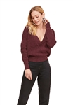 ASTR The Label Stephanie Sweater in Wine