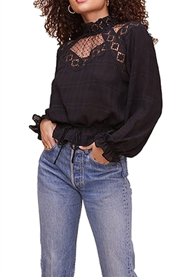 ASTR The Label Marisol Blouse in Black