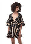 Acler Archer Dress in Bronze Stripe