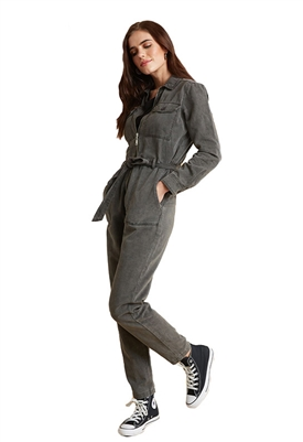Bella Dahl Utility Jumpsuit in Gunmetal