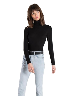n:Philanthropy Brooke Turtleneck Bodysuit in Black