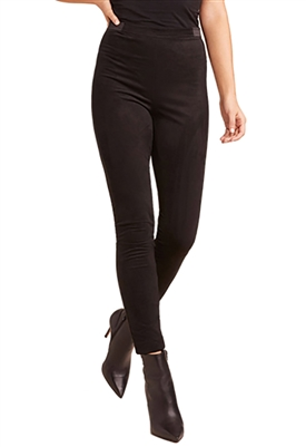 BB Dakota Violet Faux Suede Legging In Black