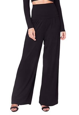 BB Dakota Flatter Me High Waist Wide Leg Pants in Black