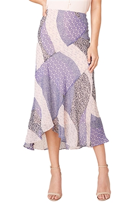BB Dakota Patch Me In Midi Skirt in Steel Lavender