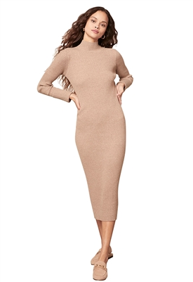 BB Dakota Sweater Of Intent Midi Dress in Light Taupe