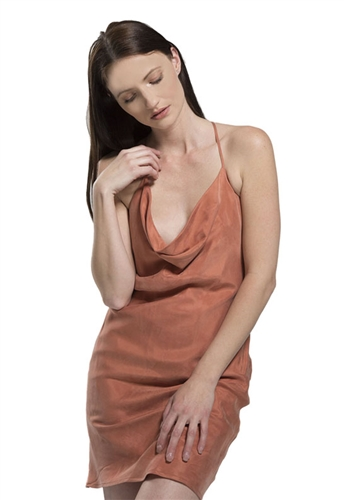 Blaque Label Cowl Neck Dress in Ginger