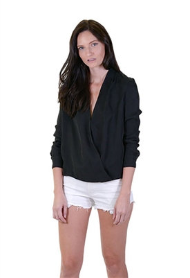 Blaque Label Wrap Blouse in Black