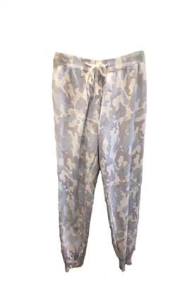 Central Park West Verbena Knit Jogger in Blue Camo
