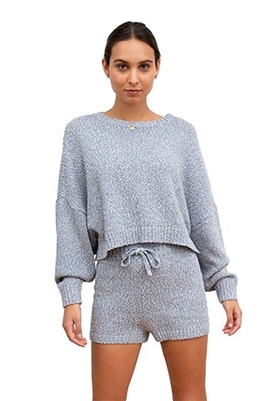 Central Park West Senna Pullover Top in Denim