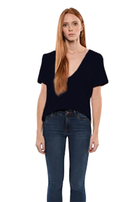 Maison T Sofia Tee Shirt in Navy