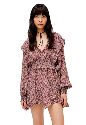 For Love & Lemons Sadie Mini Dress in Ditsy