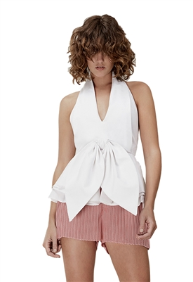 C/Meo Collective Conquer Shirting Top in White