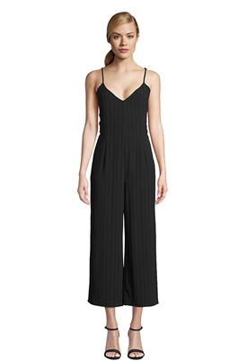 Cupcakes and Cashmere Lana Jumpsuit in Black Pinstripe