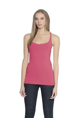 Susana Monaco Racer Back Top in Punch Pink