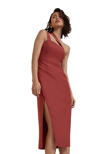 C/Meo Collective Bound Together Dress in Marsala