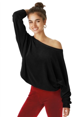 Juicy Couture Velour Dolman Pullover in Black