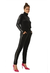 Juicy Couture Anniversary Bling Velour Jumpsuit in Black