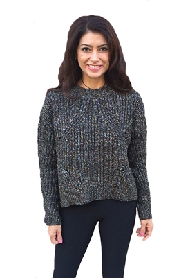 John + Jenn Hubert Crew Neck Sweater in Prism