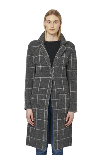 John + Jenn Marcus Single Button Coat in Window Pane