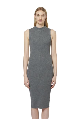 John + Jenn Burnett Midi Knit Dress in Heather Grey