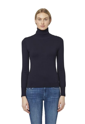 John + Jenn Cummings Turtleneck Top in Midnight