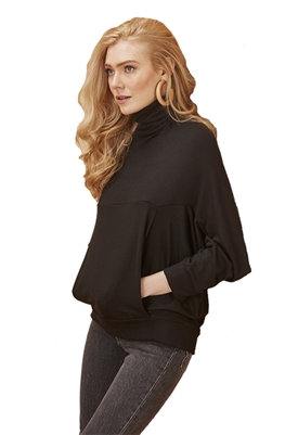 Rachel Pally Lux Rib Danica Top in Black