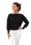 525 America Bishop Sleeve Pullover in Black