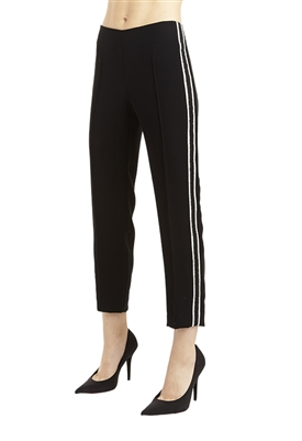 Drew Isabella Stripe Pant in Black