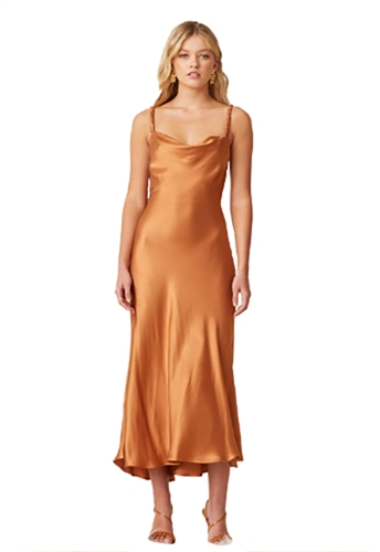 Bec & Bridge Lani Midi Dress in Caramel