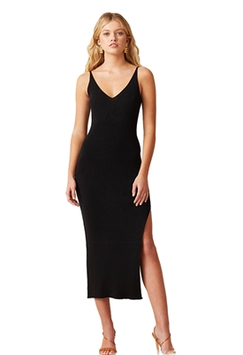 Bec & Bridge Sandy Knit Midi Dress in Black