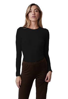 Monrow Thermal Long Sleeve Crew Neck Bodysuit