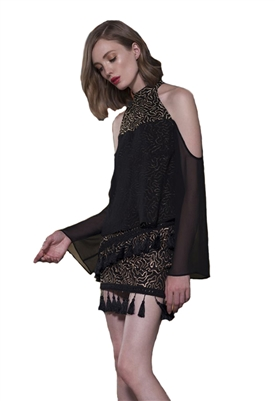The Jetset Diaries Polaris Top in Black & Gold