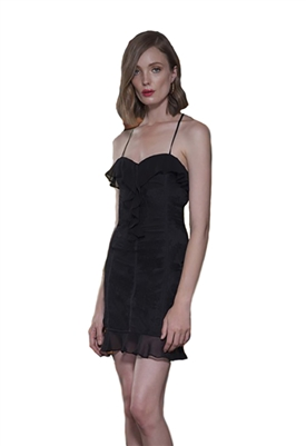 The Jetset Diaries Aphrodite Mini Dress in Black