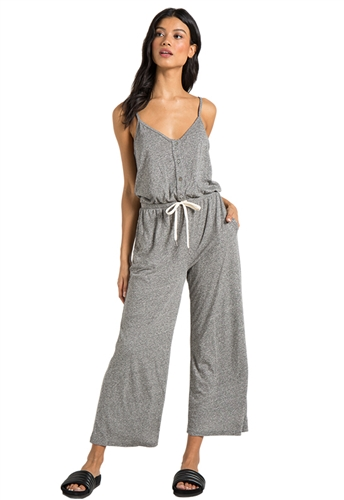 n:Philanthropy Selvedge Jumpsuit in Heather Grey