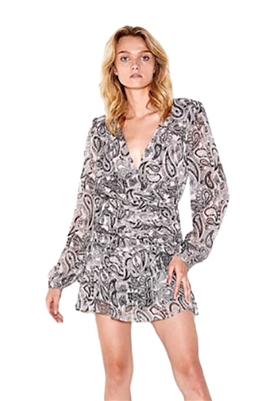 Sen Collection Jayra Long Sleeve Fit & Flare Mini Dress