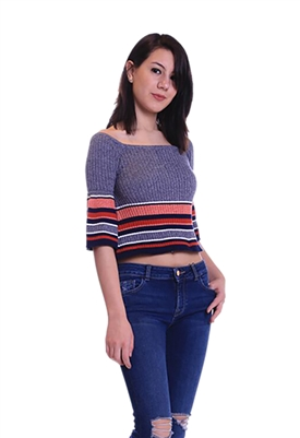 Lovers + Friends Skye Top Red Border Stripe