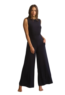 Commando Butter Muscle Wide Leg Jumpsuit in Black