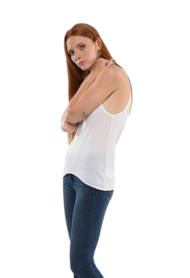 Maison T Milly Muscle U Neck Tank in White