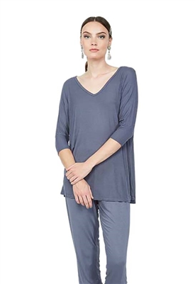 Michael Lauren Dylan 3/4 Sleeve Top in Thunderstorm