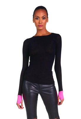 Michael Lauren Maurice Fitted Color Block Top