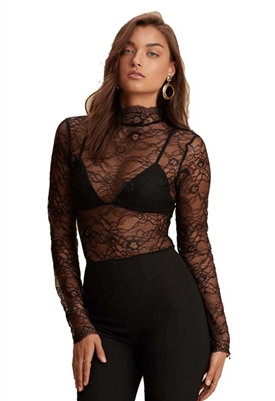 NBD Raylynn Bodysuit in Black