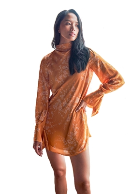 Free People Aries Mini Dress in Golden Combo