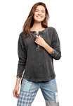 Free People Fall For You Henley in Eucalyptus