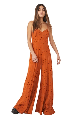 Free People Summer Jamboree Jumpsuit in Rust Combo