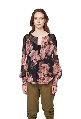 Once Was Mayfair Chiffon Blouse in Eden Floral