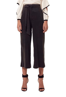 Once Was Salome Wide Leg Crop Pant in Black