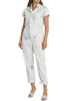 Pistola Grover Short Sleeve Field Suit in Blue Surf