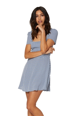 Flynn Skye Maiden Mini Dress in Gingham Blues